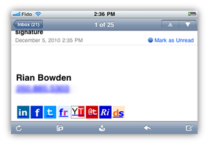 Email Signature on iPhone