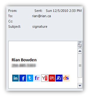 Email Signature in Outlook